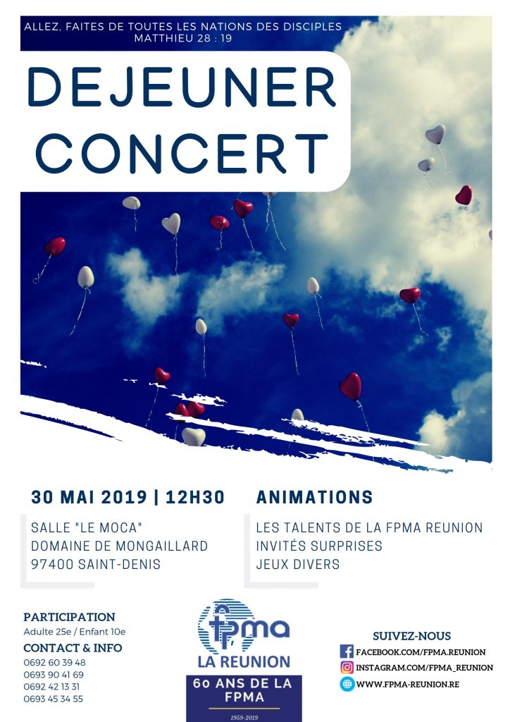 Déjeuner concert 2019 fpma réunion